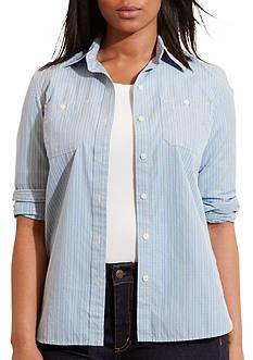 Lauren Ralph Lauren Plus Size Alizabeth Long Sleeve Shirt
