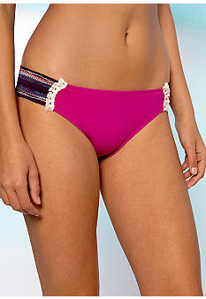 Lucky Brand Magic Tab Side Hipster Swim Bottom