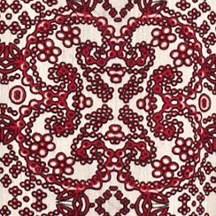 Juniors: Blouses Sale: Red Combo H.I.P. Printed Peasant Top