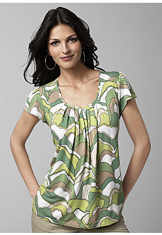 Michael Kors Palm Wave Cap Sleeve Top - Belk.com