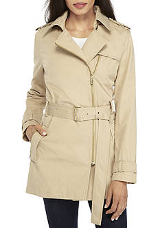 MICHAEL Michael Kors Zip Detail Trench Jacket