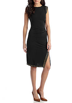 MICHAEL Michael Kors Studded Asymmetrical Hem Dress