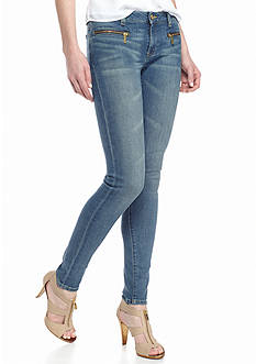 MICHAEL Michael Kors Denim Zip Pocket Skinny Jeans