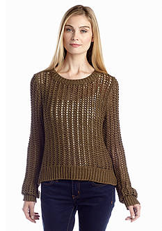 MICHAEL Michael Kors Long Sleeve High-Low Knit Sweater