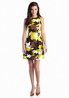 MICHAEL Michael Kors Camouflage Print Fit-and-Flare Dress