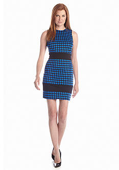MICHAEL Michael Kors Ponzano Hounds-Tooth Print Dress
