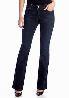 MICHAEL Michael Kors Indigo Stellar Wash Boot Cut Jean Short & Average
