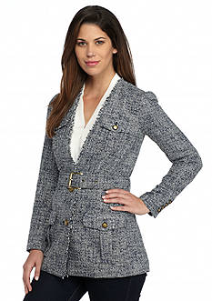 MICHAEL Michael Kors Flap Pocket Tweed Jacket