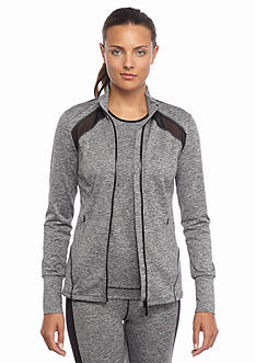 MICHAEL Michael Kors Mesh Knit Zip Jacket