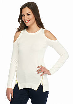 MICHAEL Michael Kors Solid Cold Shoulder Sweater