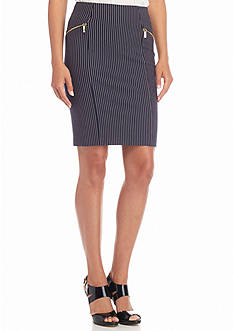 MICHAEL Michael Kors Pinstripe Pencil Skirt