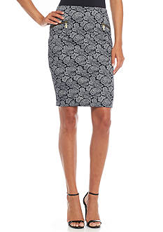 MICHAEL Michael Kors Woodbrook Paisley Print Pencil Skirt