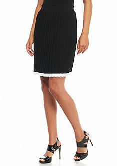 MICHAEL Michael Kors Pleated Sweater Skirt