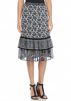MICHAEL Michael Kors Woodbrook Printed Tier Skirt