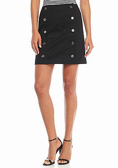 MICHAEL Michael Kors Button Front Mini Skirt