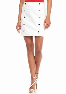 MICHAEL Michael Kors Button Front Mini Skirt