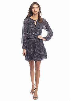 MICHAEL Michael Kors Woodbrook Print Peasant Dress