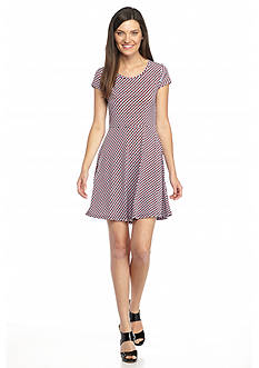 MICHAEL Michael Kors Printed Cap Sleeve Dress