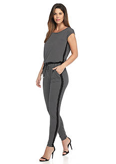 MICHAEL Michael Kors Printed Side Stripe Jumpsuit