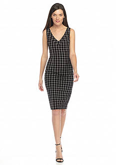 MICHAEL Michael Kors V-Neck Sheath Dress