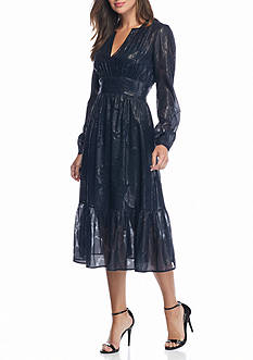 MICHAEL Michael Kors Kent Metallic Tiered Dress