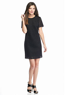 MICHAEL Michael Kors Laser Cut Shift Dress
