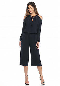 MICHAEL Michael Kors Solid Cold Shoulder Jumpsuit