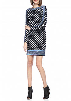MICHAEL Michael Kors Bergalia Border Print Dress