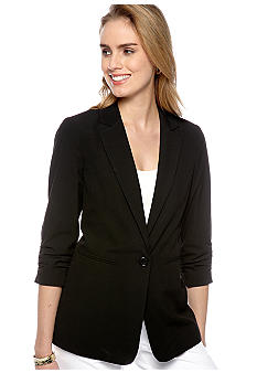 MICHAEL Michael Kors Shirred Sleeve Blazer