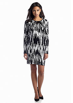 MICHAEL Michael Kors Ikat Sequined Shift Dress