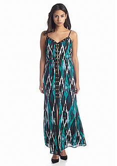 MICHAEL Michael Kors Menera Printed Lace Up Maxi