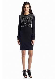MICHAEL Michael Kors Long Sleeve Studded Sweater Dress