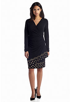 MICHAEL Michael Kors Grommet Hem Wrap Dress