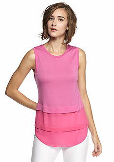 MICHAEL Michael Kors Sleeveless Crew Mix Tee