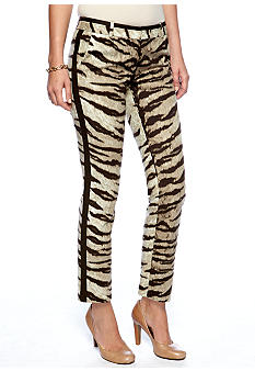 MICHAEL Michael Kors Printed Color Block Ankle Pant