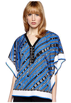 MICHAEL Michael Kors Lace Up Poncho Top