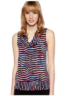 MICHAEL Michael Kors Sleeveless Cowl Neck Blouse