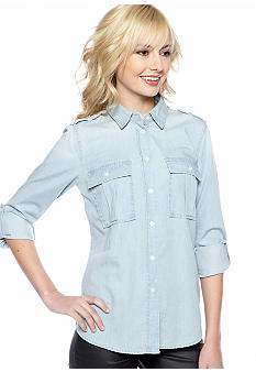 MICHAEL Michael Kors Chambray Button Down Shirt