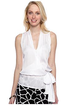 MICHAEL Michael Kors Sleeveless Crossover Top