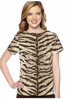 MICHAEL Michael Kors Structured Animal Print Top