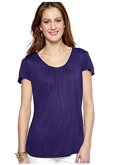 MICHAEL Michael Kors Flutter Sleeve Pleat Top