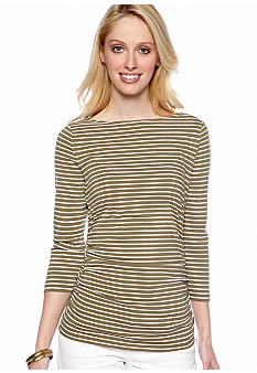 MICHAEL Michael Kors Stripe Side Zip Top