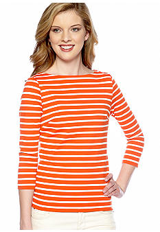 MICHAEL Michael Kors Boat Neck Stripe Top