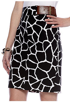 MICHAEL Michael Kors Giraffe Print Pencil Skirt