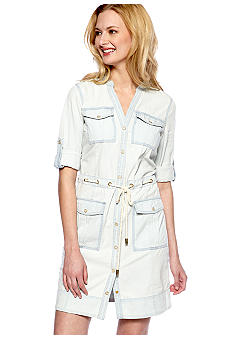 MICHAEL Michael Kors Chambray Dress with Rope Waistband