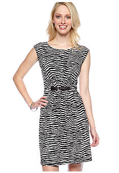 MICHAEL Michael Kors Pleat Front Buckle Dress