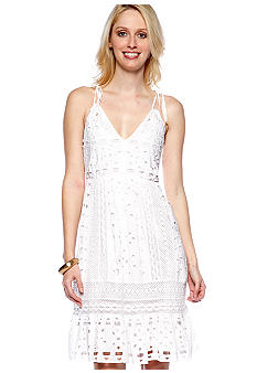 MICHAEL Michael Kors Eyelet Panel Dress