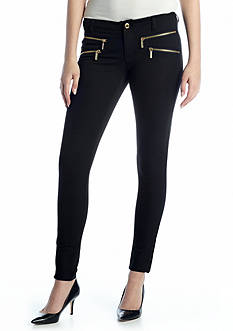 MICHAEL Michael Kors Bi Stretch Twill Zipper Pant