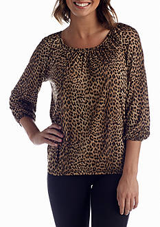 MICHAEL Michael Kors Printed Peasant Top
