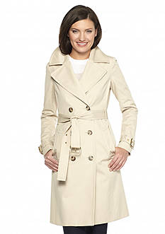 MICHAEL Michael Kors Fit and Flare Trench Jacket